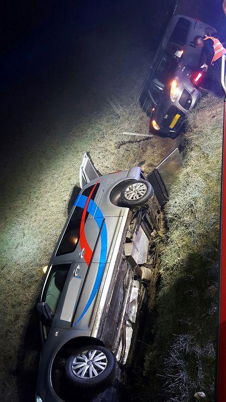 Bei dem Unfall entstand zum Glück nur erheblicher Materialschaden.