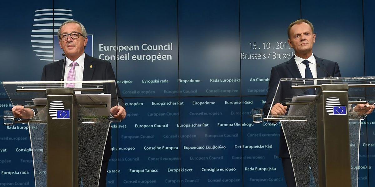 O acordo foi apresentado pelos presidentes da Comissão Europeia e do Conselho Europeu, Jean-Claude Juncker e Donald Tusk, respectivamente