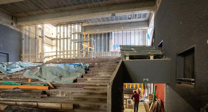 Lok , Esch/Alzette , Renovation und Umbau Cine Ariston zu Jugendtheater , Foto:Guy Jallay/Luxemburger Wort
