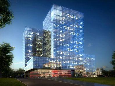Le futur bâtiment de RTL sera entièrement habillé de verre.