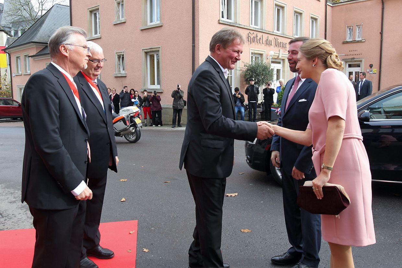 Erbgroßherzog Guillaume und Prinzessin Stéphanie zu Besuch in Wiltz.