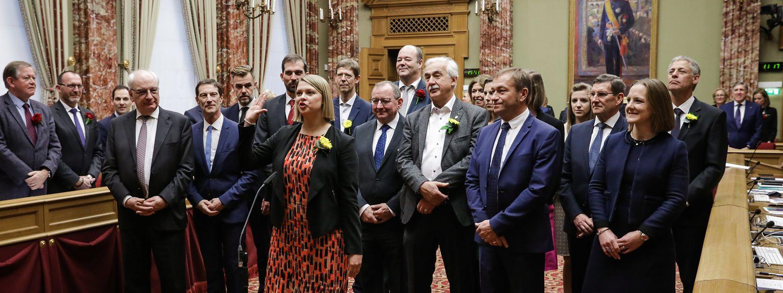 17 neue Abgeordnete wurden vereidigt. Unter ihnen fünf frische Gesichter.
