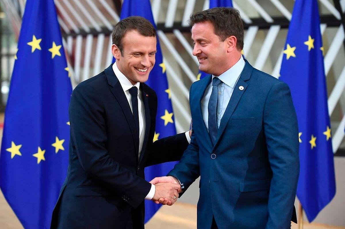 Xavier Bettel e Emmanuel Macron encontram-se esta tarde em Paris.
