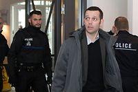 Edouard Perrin au tribunal de Luxembourg pendant le procès LuxLeaks, le 04 janvier 2017.