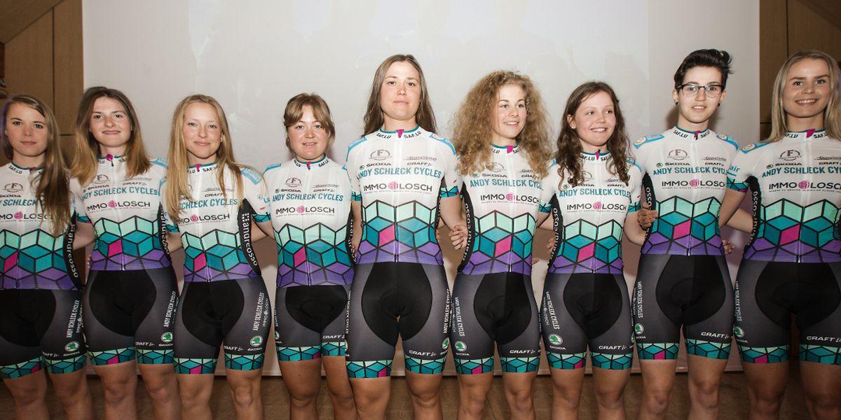 Une partie de la sélection du Development Team avec entre autres Elise Maes (à gauche).