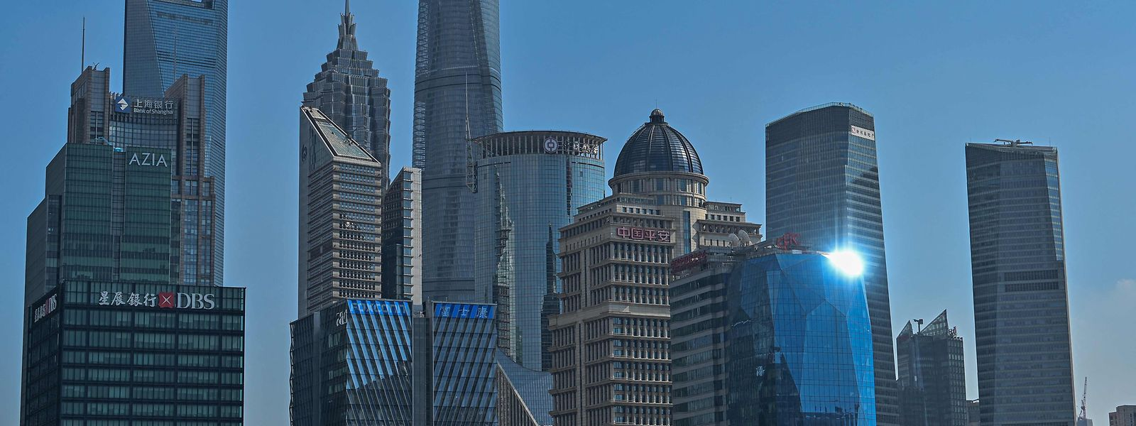 Das Finanzzentrum Lujiazui in Shanghai.