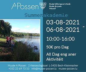 Summerakademie fir Kanner