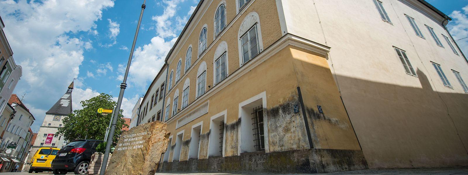 Das Geburtshaus von Adolf Hitler in Braunau am Inn.