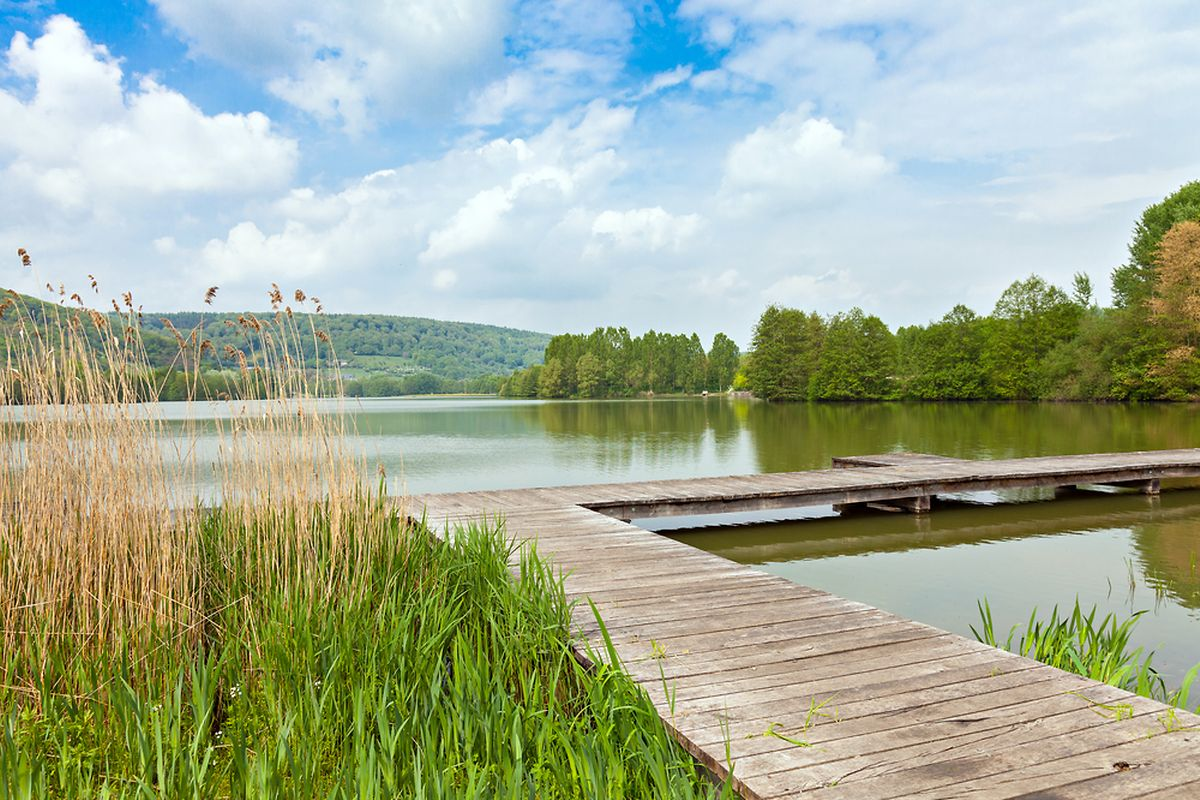 The artificial lake at Echternach is perfect for a picnic