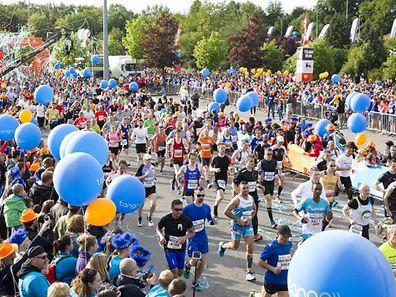 Der Marathon ist immer wieder ein farbenfrohes Spektakel.