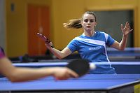 Sarah De Nutte vainqueur Dames AB  /Tennis de table,  Luxembourg  /  Saison 2017-2018  / 11.02.2018 / Chapionnats Nationaux  /Complexe Sportif La Coque, Luxembourg  / Photo : Michel Dell'Aiera