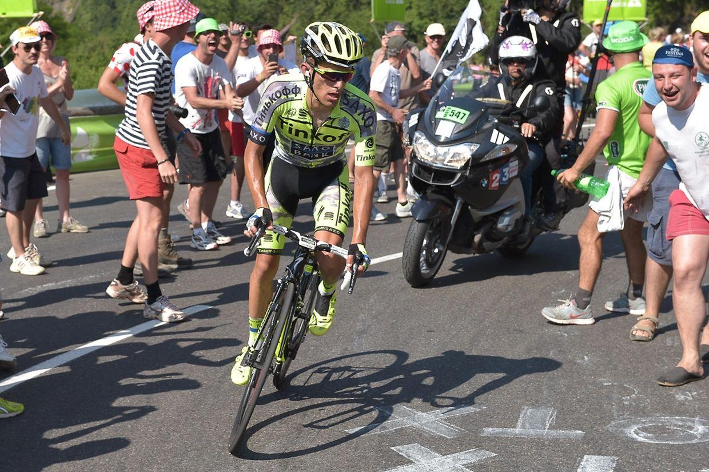 Rafal Majka (PL/Tinkoff-Saxo) auf dem Weg zu seinem Etappenerfolg