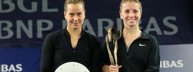 Ob Barbora Zahlavova Strycova (l.) und Annika Beck auch im Oktober 2015 in Luxemburg aufschlagen werden?