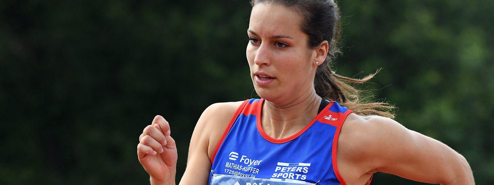 Charline Mathias verkörpert die Luxemburger Hoffnungen in der Leichtathletik.