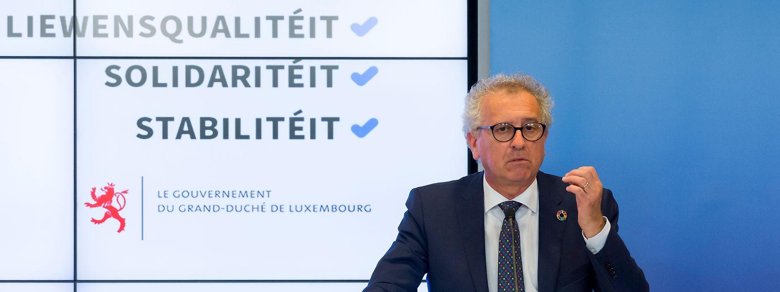 """Pierre Gramegna (DP) n'est pas favorable à l'introduction d'un """"impôt corona"""" contrairement à son collègue de gouvernement, Dan Kersch (LSAP)."""