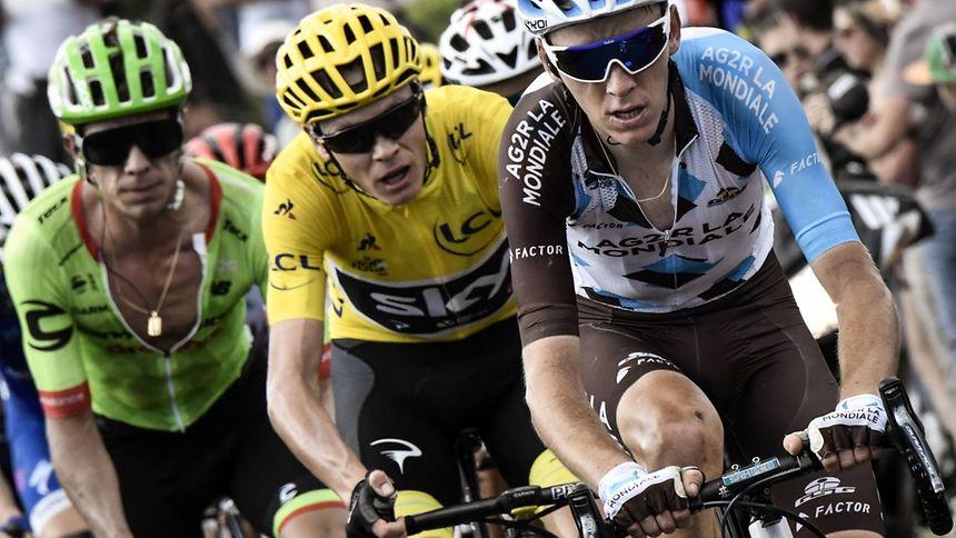 Rigoberto Uran, Christopher Froome et Romain Bardet roue dans roue. La dernière semaine du Tour s'annonce passionnante mais le coureur de la Sky sera difficile à déloger.