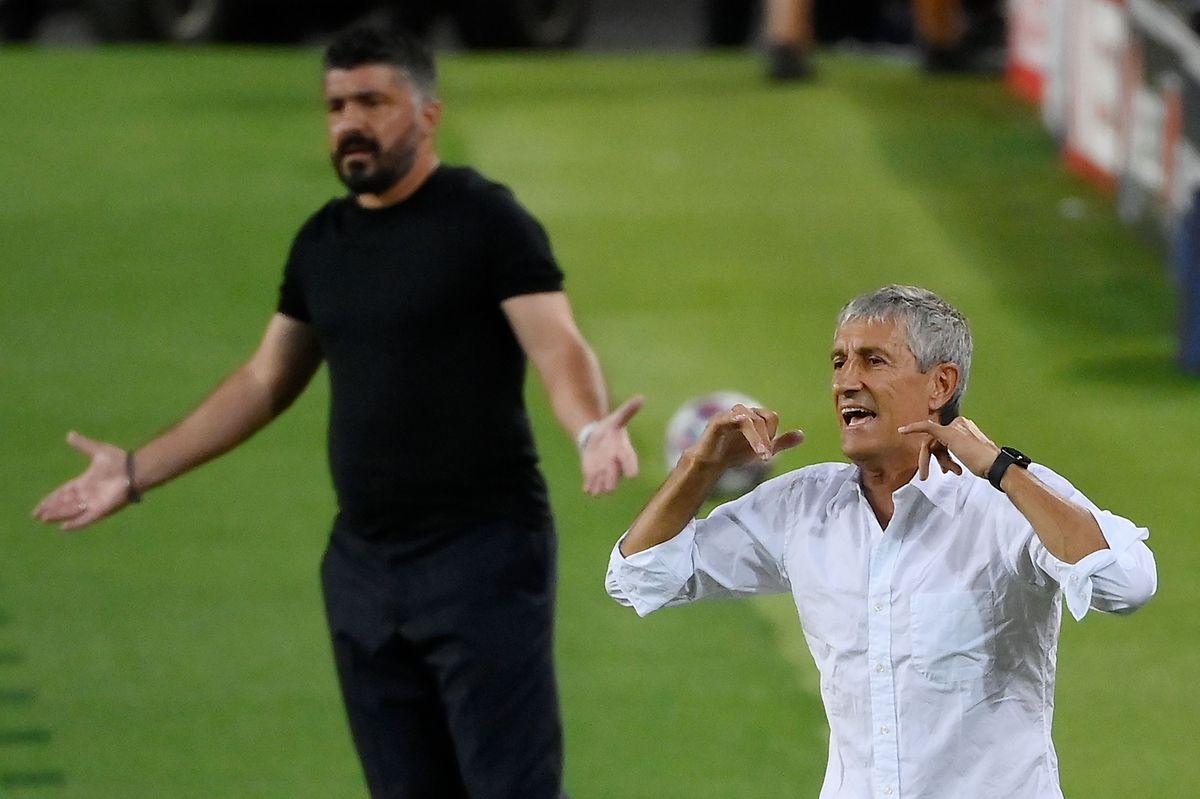 Trainer Quique Setien ist nicht unumstritten.