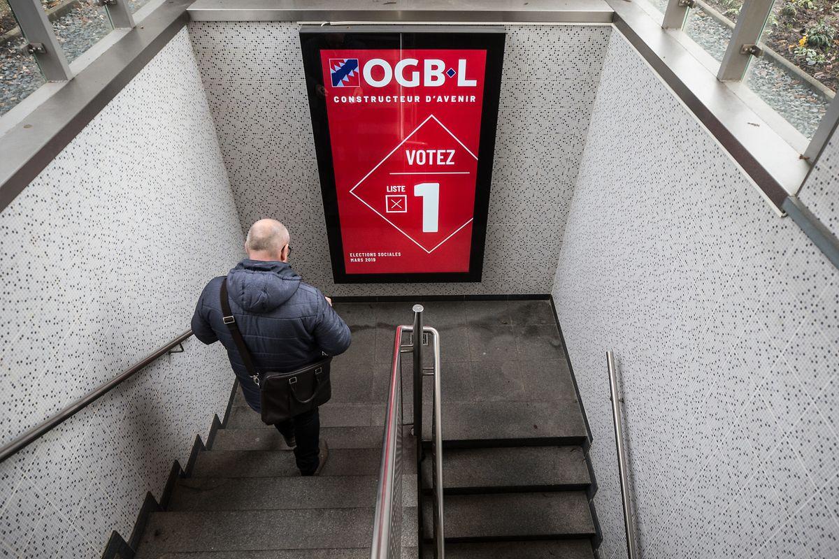 Der OGBL geht als größte Gewerkschaft ins Rennen. 5.120 Kandidaten streben einen Platz in der Personaldelegation ihres Unternehmens an.