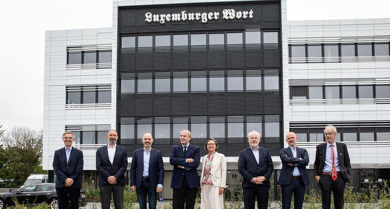 Howald , Verwaltungsrat Saint-Paul , Sitzung und Visite neue Räumlichkeiten , Foto:Guy Jallay/Luxemburger Wort