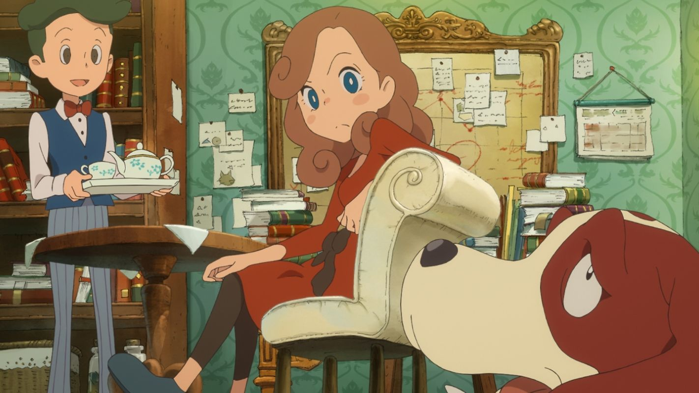 """Beim brandneuen Smartphone-Spiel """"Layton's Mystery Journey"""" dreht sich alles um die Tochter des Professors."""