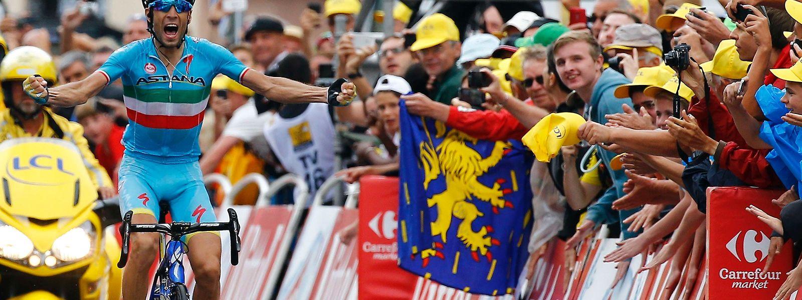 Vincenzo Nibali fuhr heute mit absolutem Willen zum Sieg.