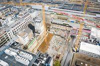 Chantier Gare - Chantier Postgebei - Drone - Foto: Pierre Matgé/Luxemburger Wort