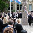 Inauguration Monument a la mémoire des victimes de la Shoah, avec Xavier Bettel, LL.AA.RR. le Grand-Duc et la Grande-Duchesse, Lydie Polfer, le 17 Juin 2018. Photo: Chris Karaba
