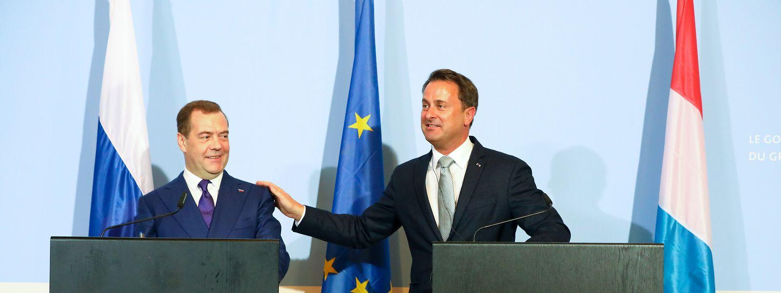 Dmitri Medvedev a souligné que le Luxembourg est un partenaire commercial important pour la Russie puisqu'il en est le cinquième investisseur, notamment en raison de sa place financière.