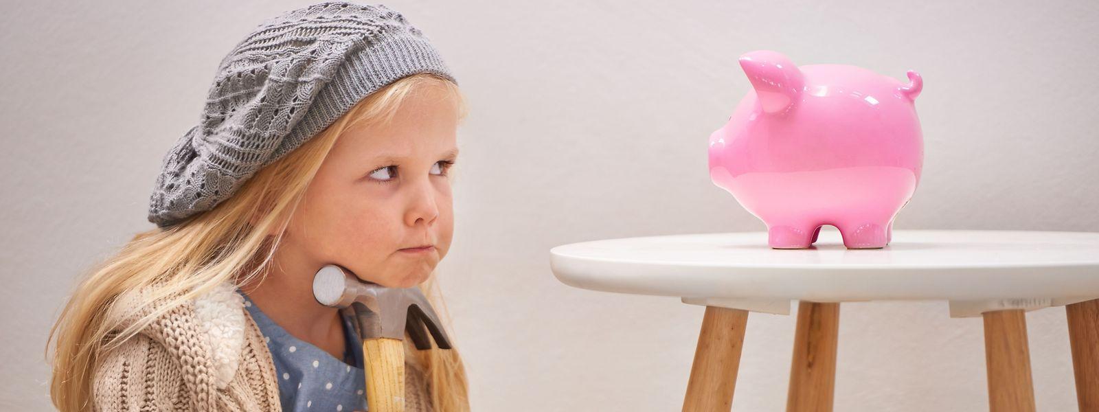 Kinder müssen lernen, sich ihr Geld einzuteilen, zu haushalten und zu sparen.