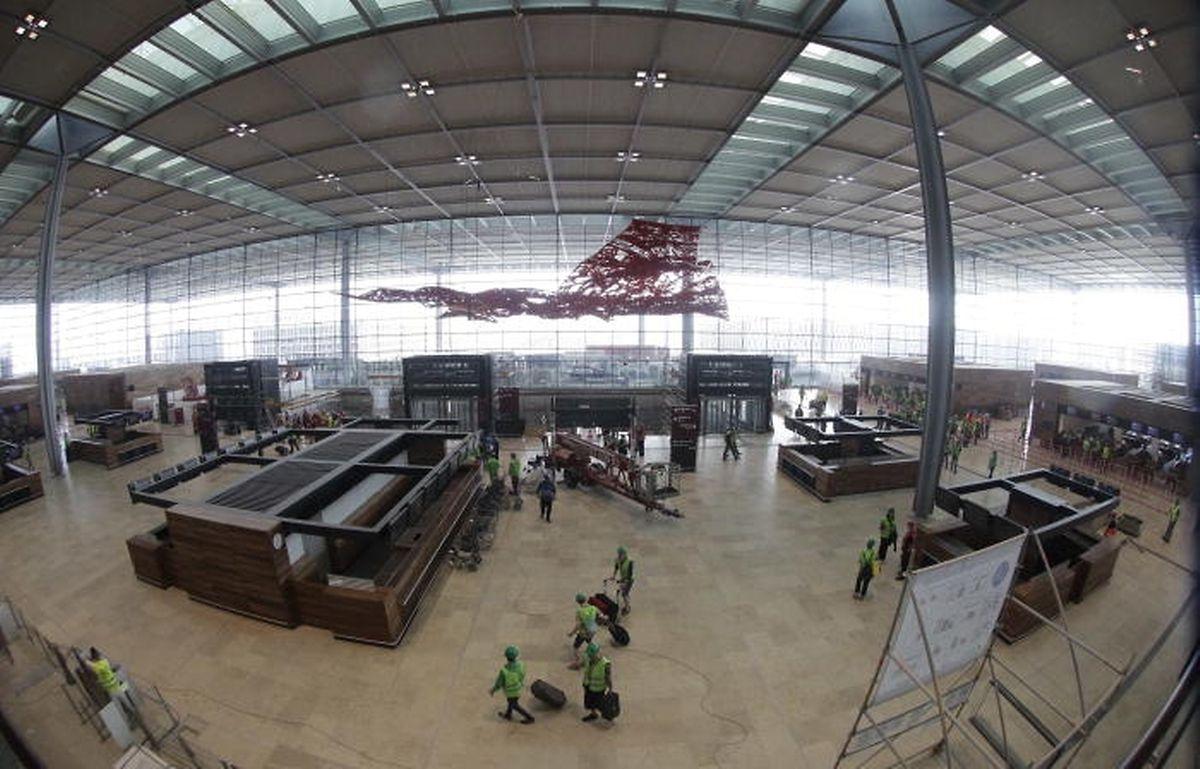Der Hauptterminal des neuen Airports auf einer Aufnahme aus dem Jahr 2012.