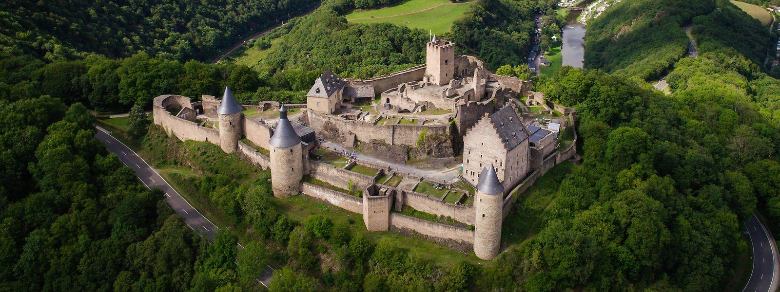 Die Burg in Bourscheid.