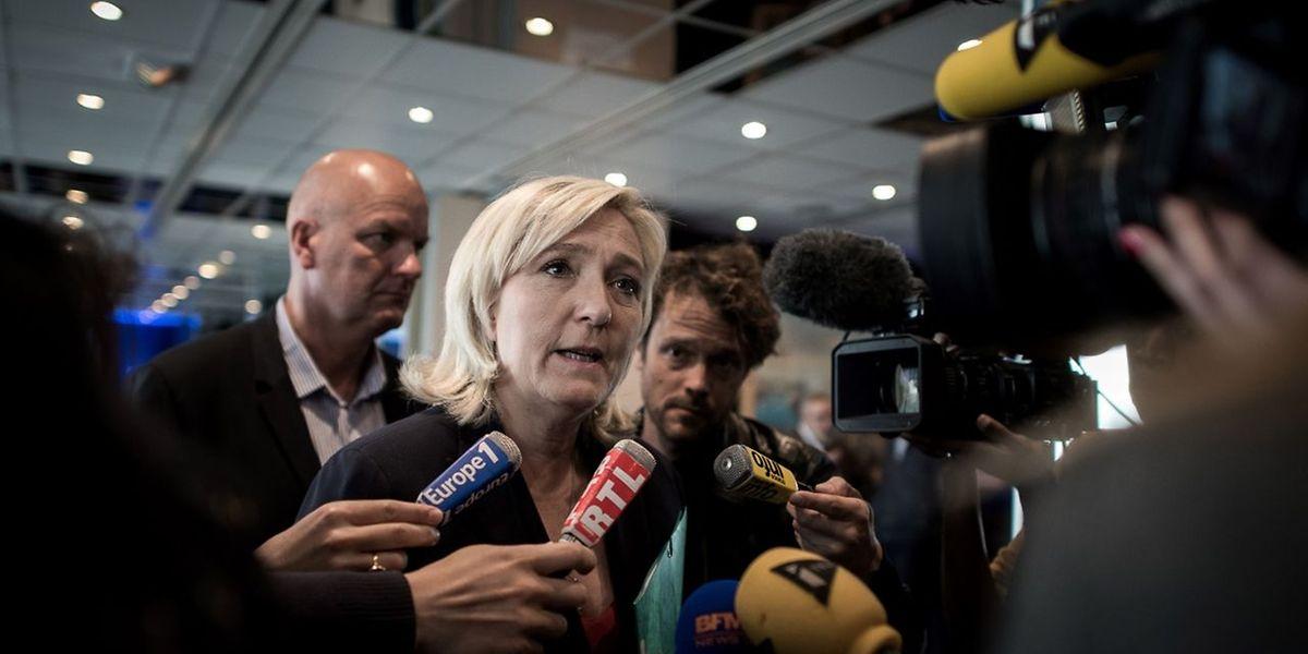Marine Le Pen und ihr Front national streben in Frankreich ebenfalls ein Referendum über einen EU-Austritt an.