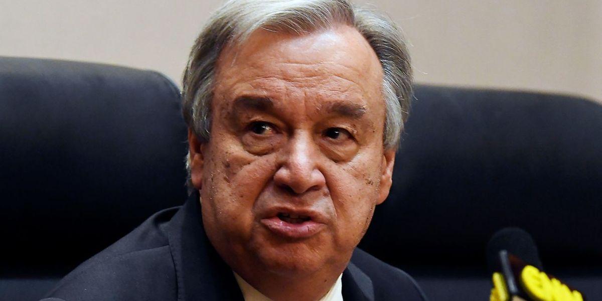 O secretário-geral da ONU, o português António Guterres.