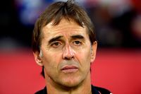 Sevilla's Spanish coach Julen Lopetegui looks on before the Spanish league football match between Sevilla FC and Getafe CF at the Ramon Sanchez Pizjuan stadium in Seville on October 27, 2019. (Photo by CRISTINA QUICLER / AFP)