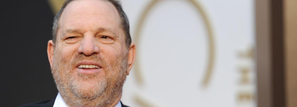 Harvey Weinstein en 2014 à son arrivée aux 86e Academy Awards à Hollywood, Californie.