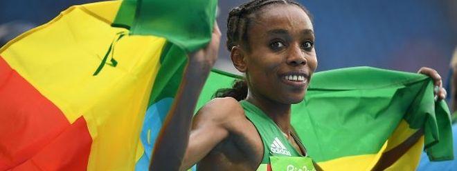 Almaz Ayana verbesserte den Weltrekord um mehr als 14 Sekunden.