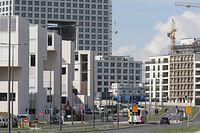 Chantier Ban de Gasperich. Baustelle Ban de Gasperich. Bau. Boulevard Kockelscheuer. Photo: Guy Wolff