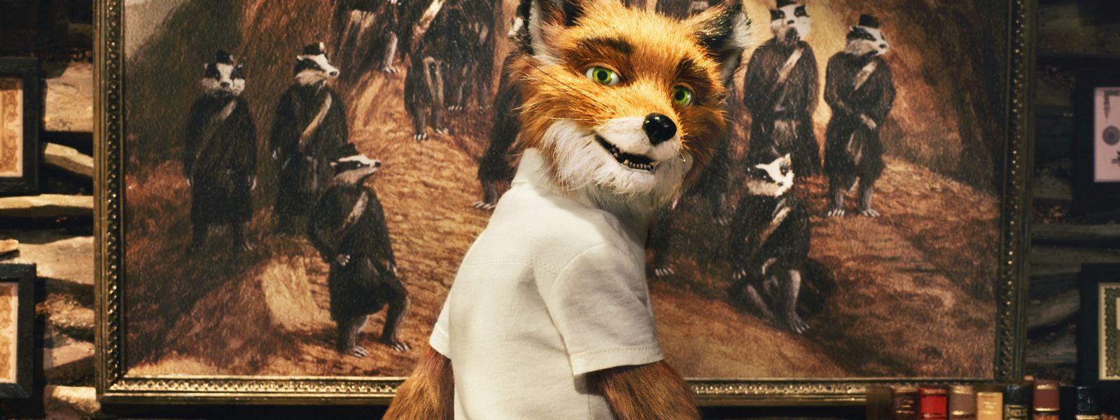 """Eine Szene aus """"Fantastic Mr Fox"""", einem Animationsfilm von Wes Anderson nach einem Buch von Roald Dahl."""