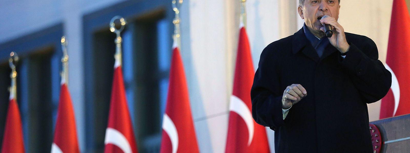 Mehr Macht: Der türkische Präsident Erdogan nach dem Referendum.