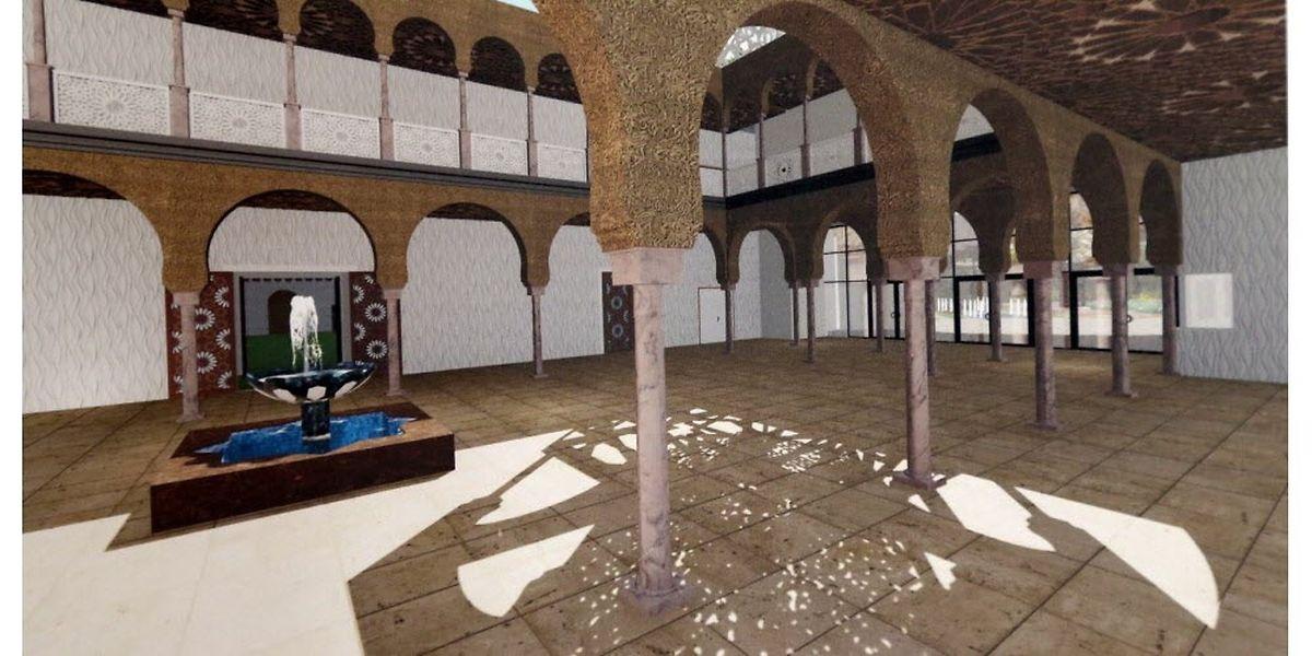 L'intérieur et les jardins de la mosquée auront des allures andalouses, selon les premières esquisses.