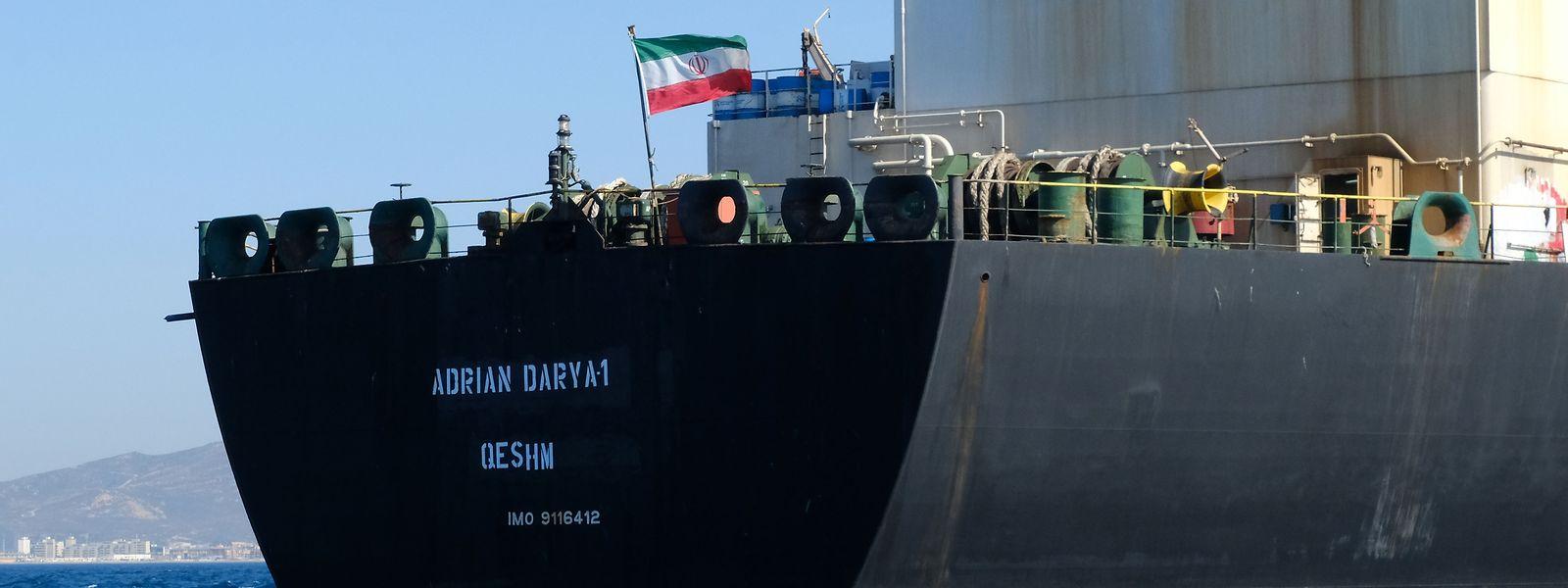 Die Adrian Darya-1 war seit dem 4. Juli in Gibraltar immobilisiert.