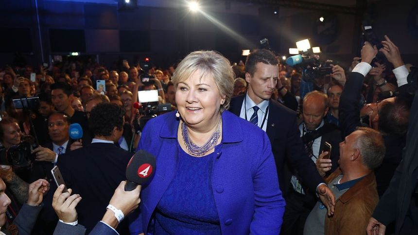 Prime Minister Erna Solberg claims win for Conservatives in Norway general election