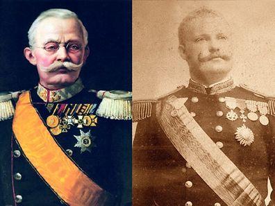O Grão-Duque Adolphe (1817-1905), esquerda, e o El-Rei D. Carlos (1863-1908)
