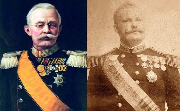 O Grão-Duque Adolphe (1817-1905), esquerda, e El-Rei D. Carlos (1863-1908)
