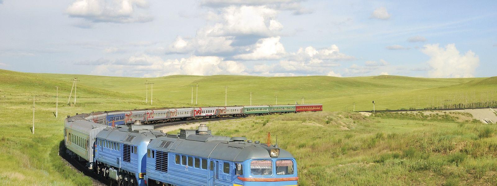 Der Zarengold-Express in der Nähe des Baikalsees. Die 21-tägige Reise von Moskau nach Wladiwostok kostet mindestens 4500 Euro.