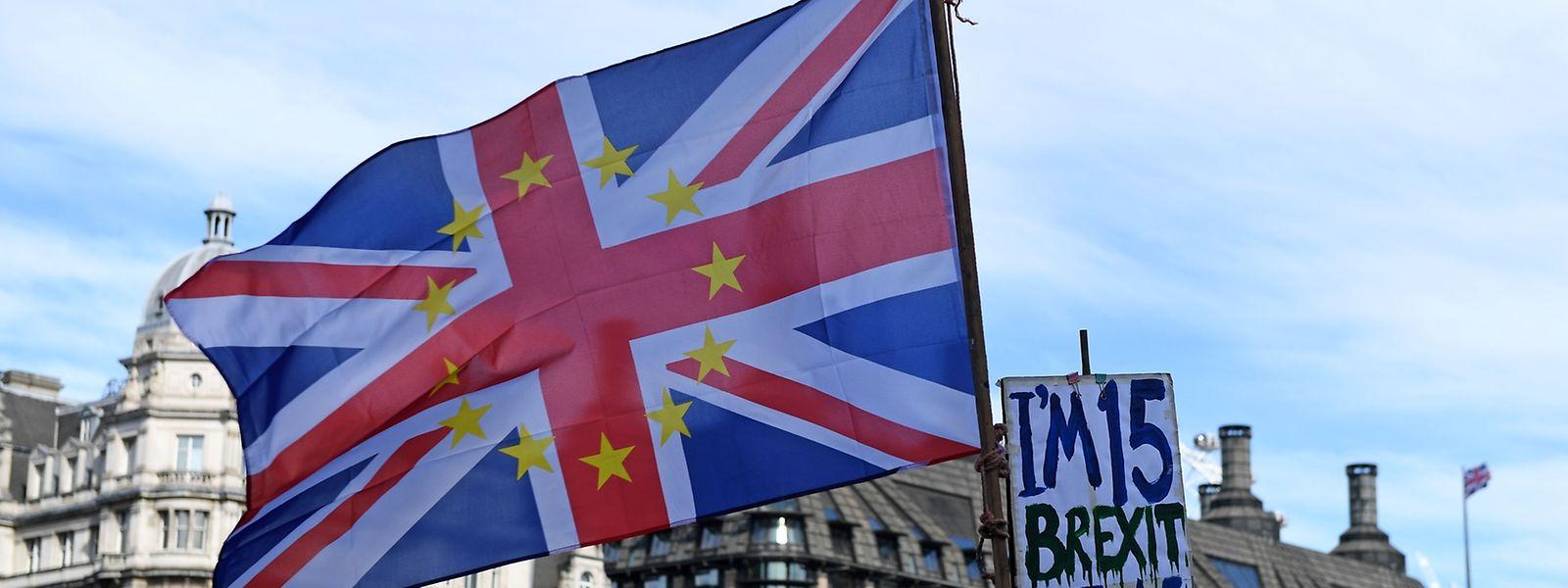 In London und Edinburgh haben sich Tausende Demonstranten für einen Verbleib in der EU stark gemacht.