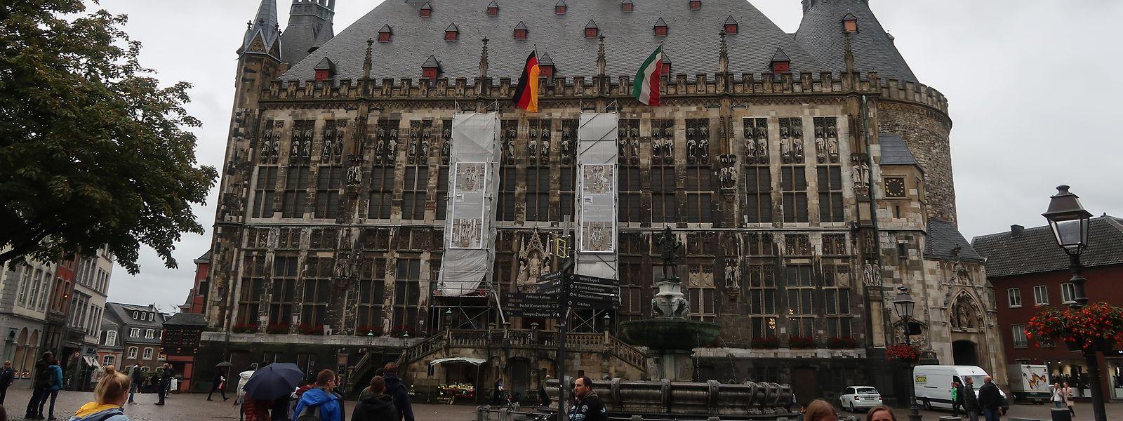 Das Rathaus von Aachen wurde im 14. Jahrhundert erbaut.