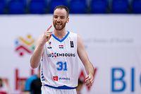 Clancy Mac Rugg (Luxemburg #31) jubelt, freut sich, Jubel, Freude/ JPEE Montenegro - Basketball, Luxemburg - Zypern / 31.05.2019 /Sports Center Topolica, Bar /Foto: Ben Majerus