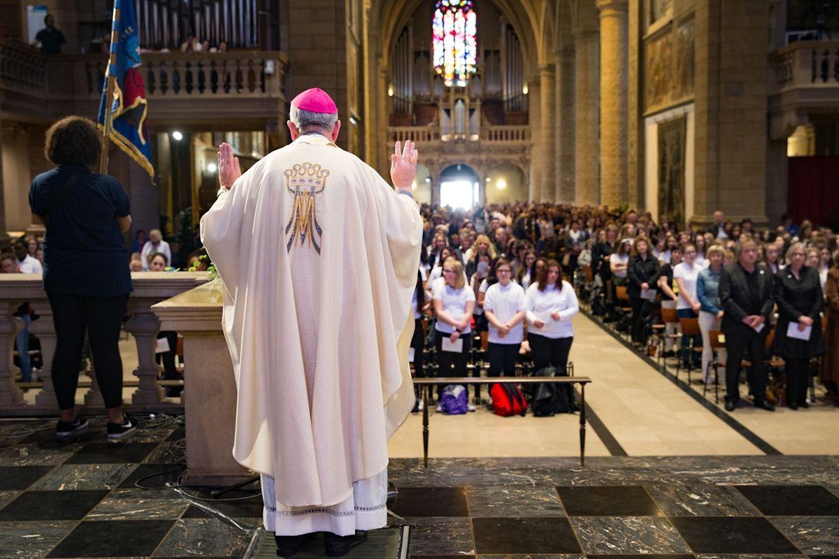 Messe für die Schule der Schwestern der christlichen Lehre St.Anne in Ettelbrück.