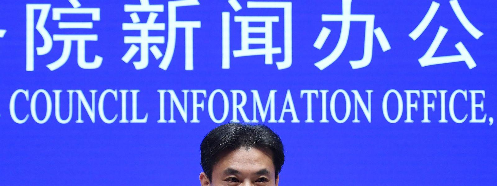 Porta-voz do Gabinete de Assuntos de Hong Kong e Macau do Conselho de Estado chinês, Yang Guang.